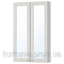 IKEA GODMORGON Шкаф с зеркалом и дверью, Касжöн светло-серый  (803.923.15)