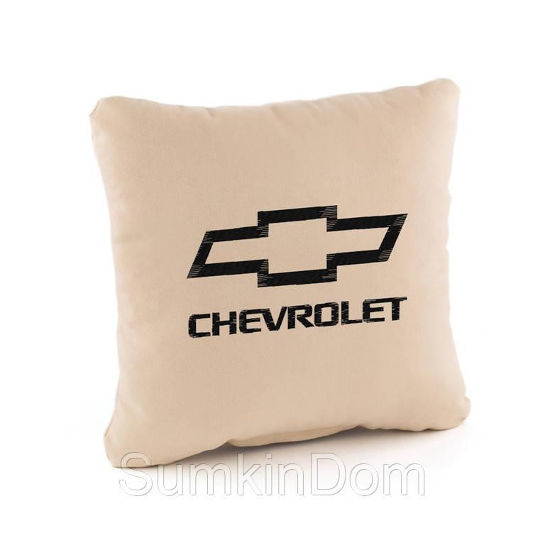 Подушка с лого Chevrolet  флок