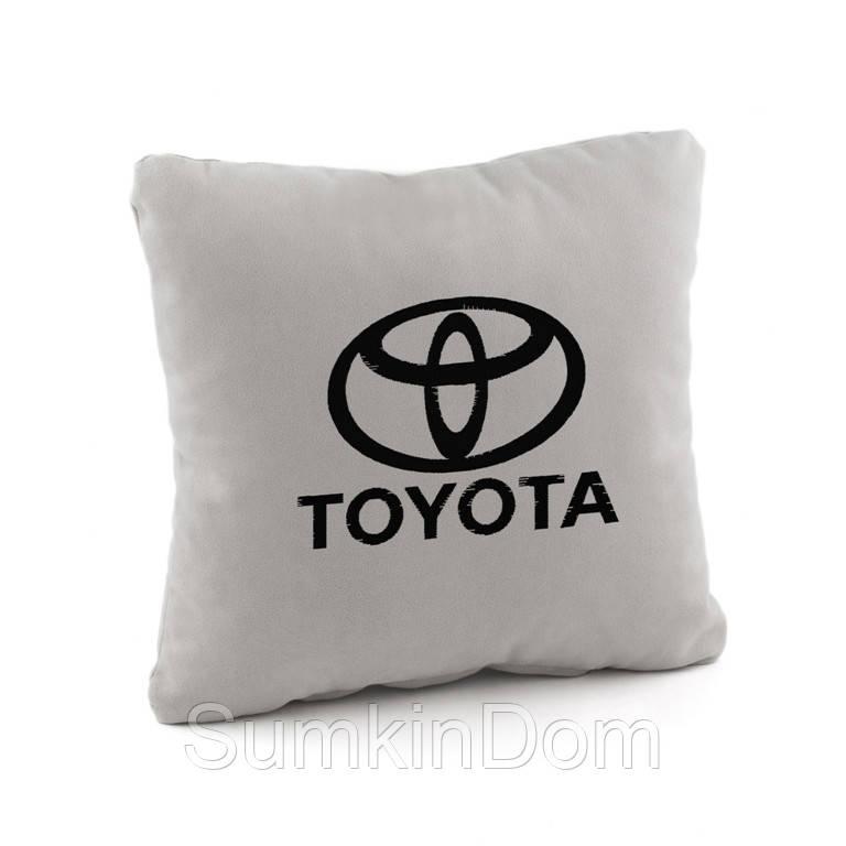 Подушка с логотипом Toyota флок