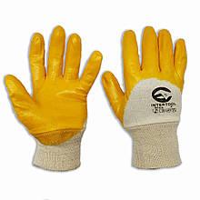 Перчатки с нитриловым покрытием INTERTOOL SP-0110, № 8, уп. — 12 пар