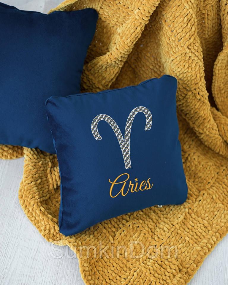 Подушка подарочная гороскоп «Овен» флок