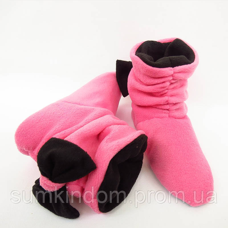 Тапочки Бантики розово черные