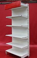 Односторонние (пристенные) стеллажи «Росс» 220х64 см. (Украина), Белые, Б/у, фото 1