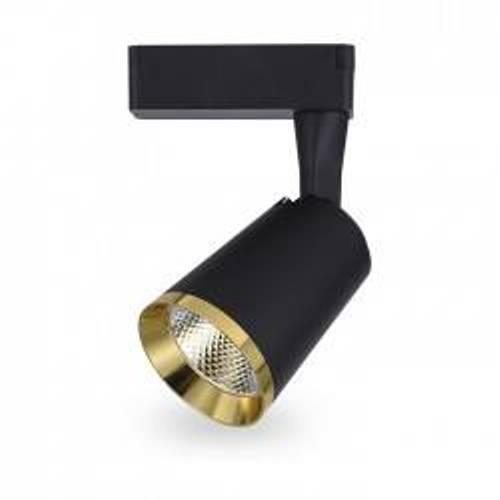 Светодиодный трековый светильник AL-111 10W 4000К черный/золото Код.59495