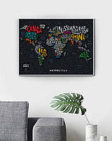 Travel Map™ LETTERS World