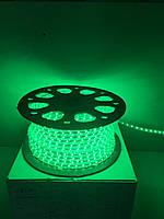 Светодиодная лента LED 3528-60 220V IP67 Зелёная (СТАНДАРТ), фото 1