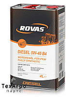 Rovas Diesel 5W-40 B4 Полностью синтетическое моторное масло для легковых автомобилей (20 литров)