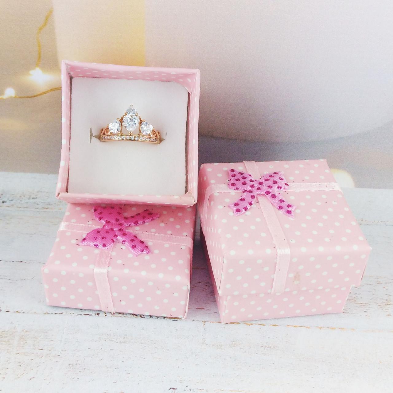 Подарочная коробочка Горошек, цвет нежно розовый