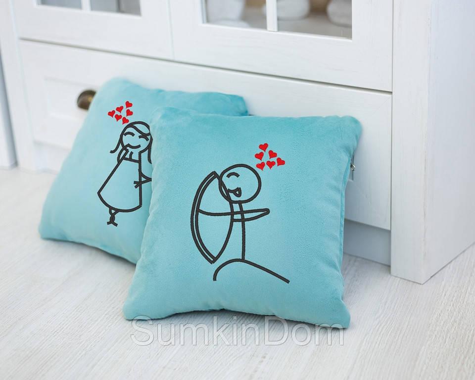 Набор подушек для влюбленных «Стрельба из лука»  флок