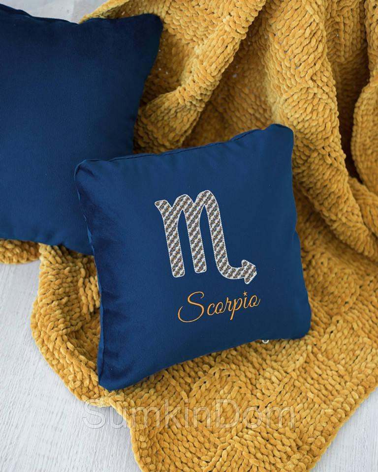 Подушка подарочная гороскоп «Скорпион» флок