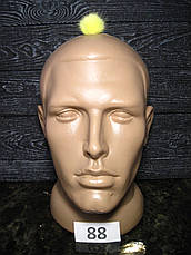 Меховой помпон Норка, Лимон, 2,5 см,  88, фото 3