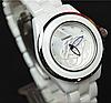 Белые женские часы керамика Chanel C5414