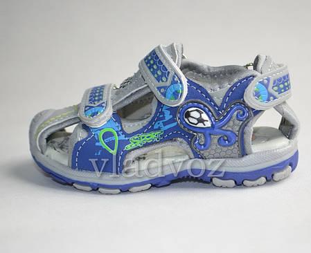 Детские босоножки сандалии для мальчика синие Sport Jong Golf  22р., фото 2