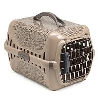 Moderna Trendy Runner Wild Life IATA Переноска с металлической дверью и замком IATA для кошек (51*31*34 см) бежевый