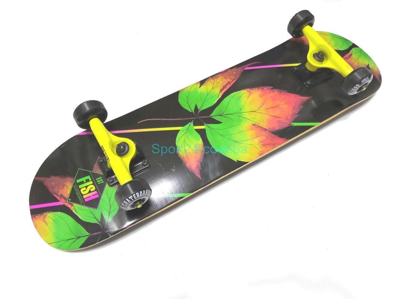 Скейтборд Fish Skateboard Лист, до 90 кг