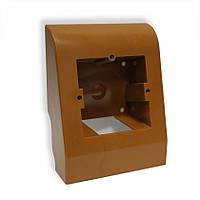 Плинтусная коробка темно-коричневая
