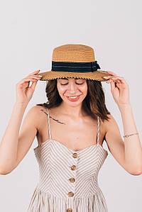 Шляпа канотье Тамила капучиновая