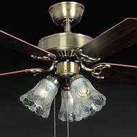 Люстра-вентилятор потолочный IMPERIA трехламповый пятилопастной LUX-555050
