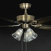 Люстра-вентилятор потолочный IMPERIA трехламповый пятилопастной LUX-555046