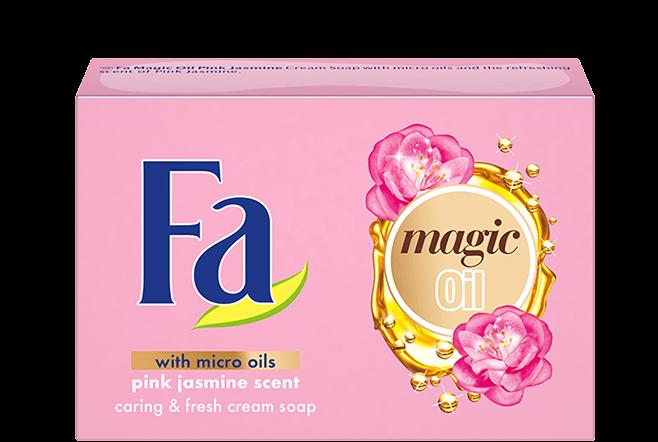 Крем-мило FA Magic oil pink jasmine рожевий  жасмін 90 г