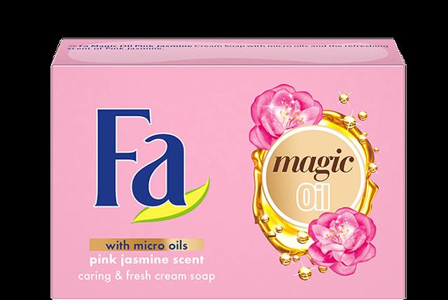 Крем-мило FA Magic oil pink jasmine рожевий  жасмін 90 г, фото 2