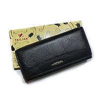 Женский кошелек кожа TAILAN черный, фото 1