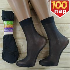 Носки женские капроновые Рулончик чёрные (100пар) НК-2733