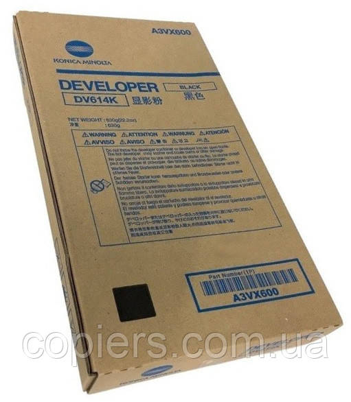 Девелопер DV614 K Konica Minolta bizhub PRESS C1060 C1060L C1070 C2060 C2060L C2070 C71hc, A3VX600