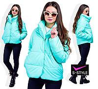 Демисезонная куртка Мариан 42-60 р мята