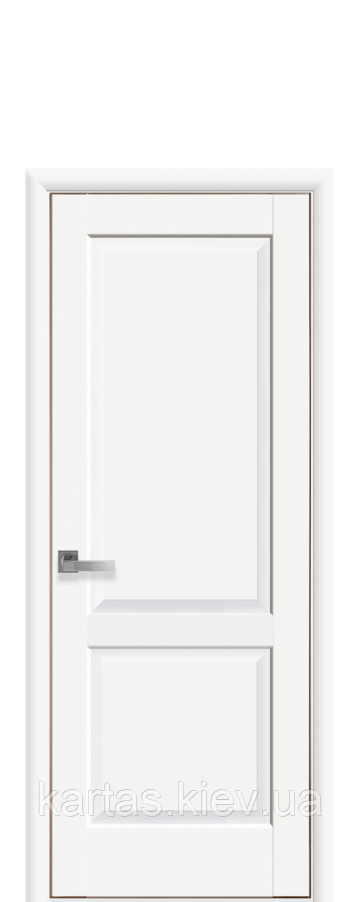 Дверное полотно Эпика Белый Матовый глухое