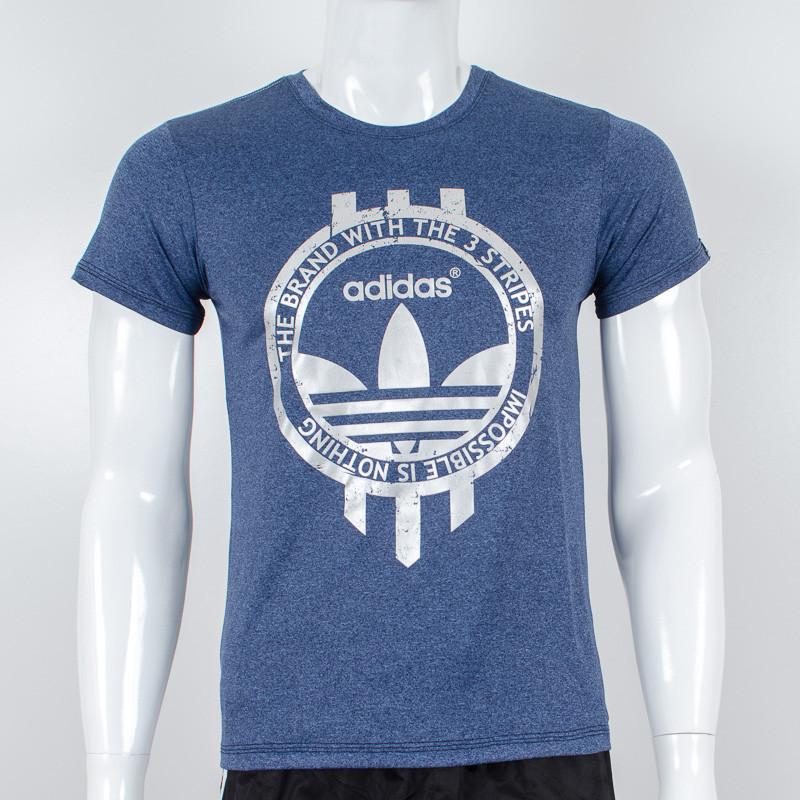 Футболка спортивная, Adidas (Меланж синий)
