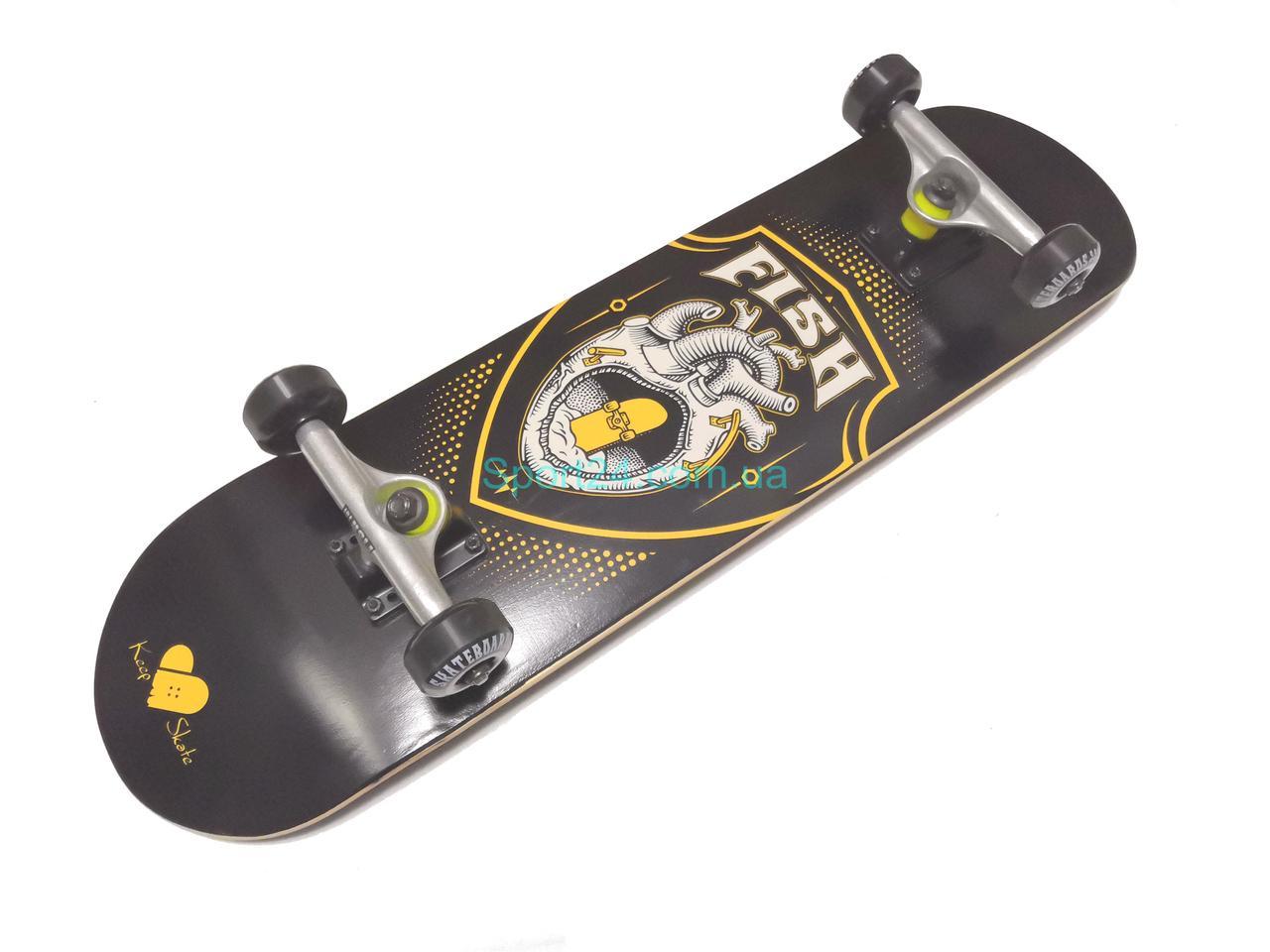 Скейтборд Fish Skateboard Сердце (Heart) , до 90 кг