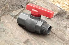 Кран шаровый Presto-PS 19 мм с наружной и внутренней резьбой 3/4 дюйма (PFV-0125), фото 2