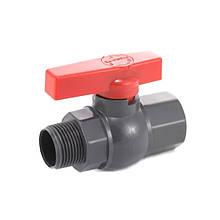 Кран шаровый Presto-PS 25 мм с наружной и внутренней резьбой 1 дюйм (PFV-0132)