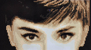 Набор для вышивки картины Одри Хепберн 34х34см