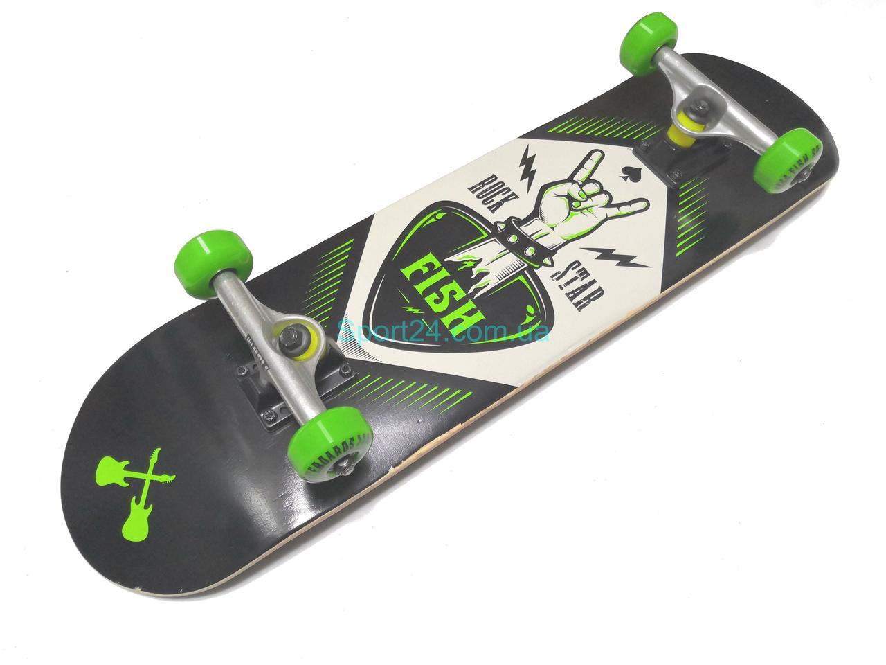 Скейтборд Fish Skateboard Rock Star (Рок звезда), до 90 кг