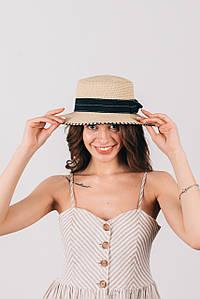 Шляпа канотье Тамила бежевая