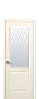 Дверное полотно Эпика Патина со стеклом сатин с рисунком Р2