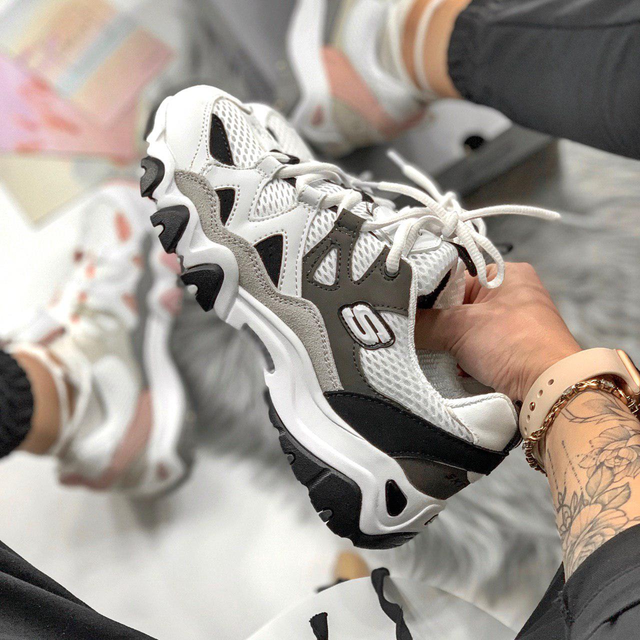 1edc1b99 Женские Кроссовки Skechers D'lites Black/white / Реплика/ 1:1 к ...