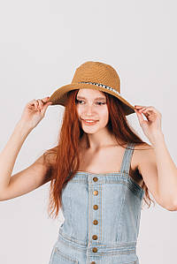 Шляпа федора Гелия капучиновая