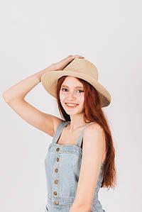 Шляпа федора Гелия песочная