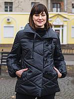 Женская куртка-одеяло Size+ (большие размеры — 54-60) черного цвета