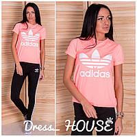 Футболка женская Adidas с коротким рукавом разные цвета Ssa261, фото 1