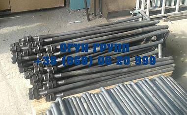 Болт фундаментный М30 тип 1 изогнутый по ГОСТ 24379.1-80