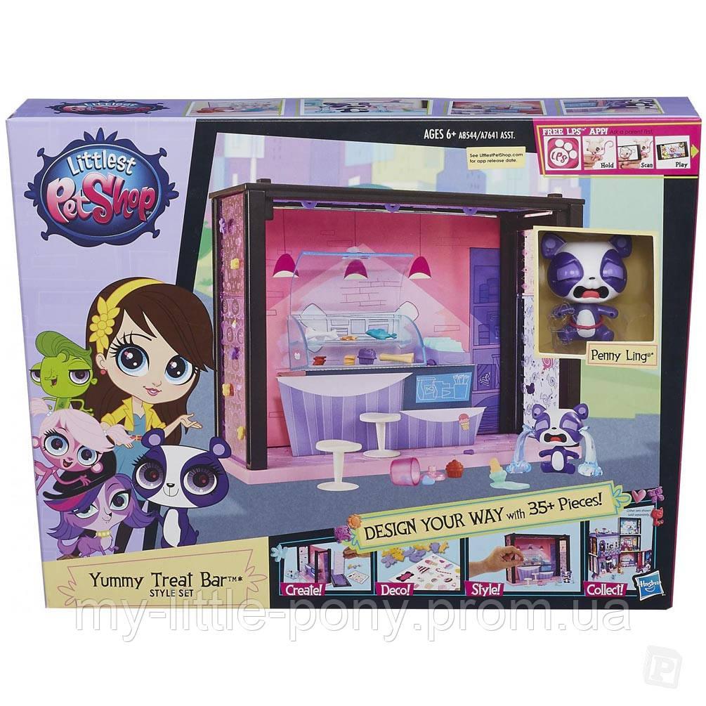 Стильный игровой набор Littlest Pet Shop Магазинчик сладостей Hasbro