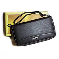 Женский кожаный кошелекна молнии Tailan черный, фото 1