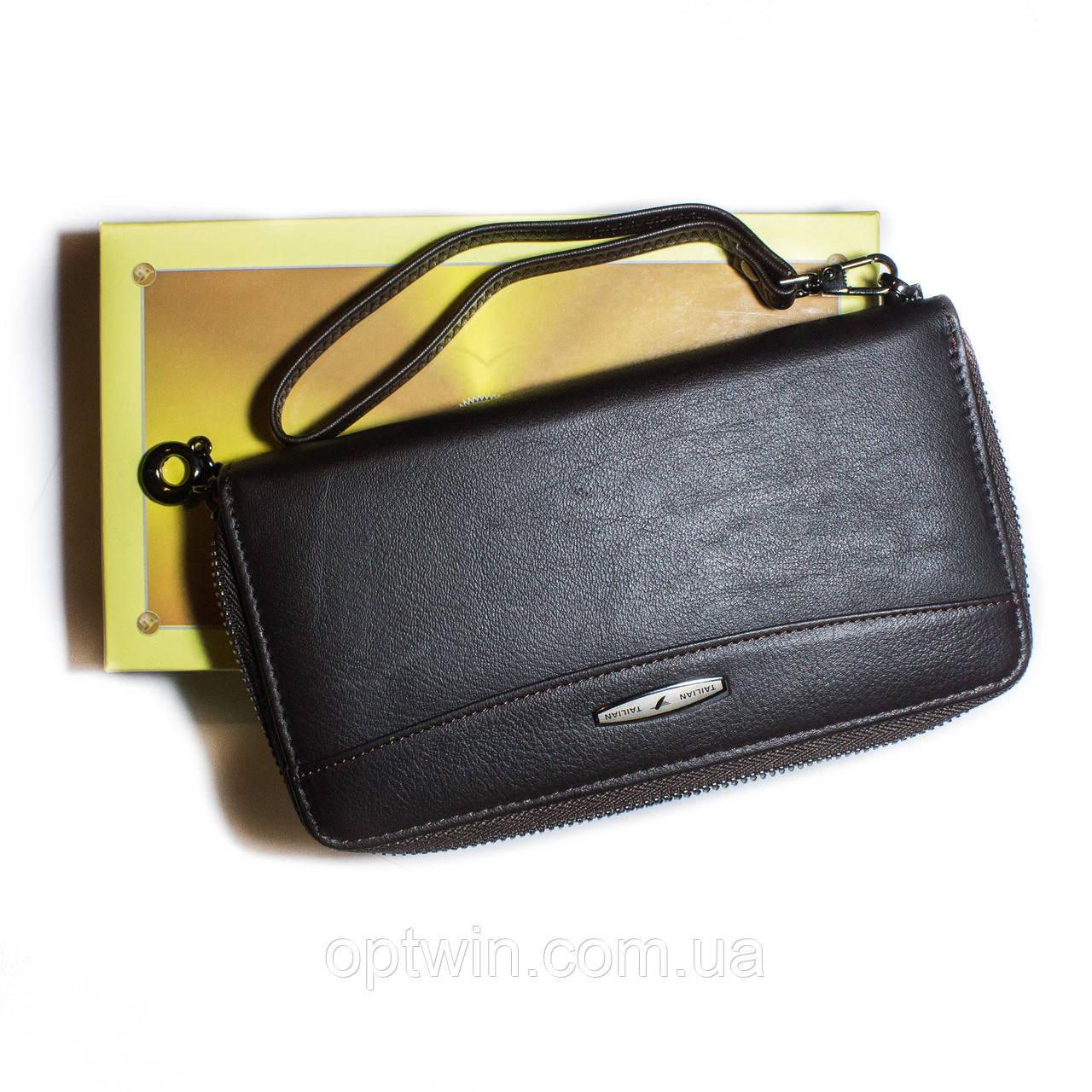 e73c4cde7f6e Женский кожаный кошелек на молнии Tailan черный - OptWin в Хмельницком