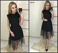 Женское платье с кружевом 391 АБ Код:874518721