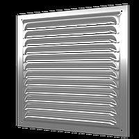 Решетка вентиляционная оцинкованная с сеткой 125х125, сталь, шт