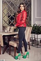 Стильная куртка косуха демисезон эко-кожа 42 44 46 48, фото 3